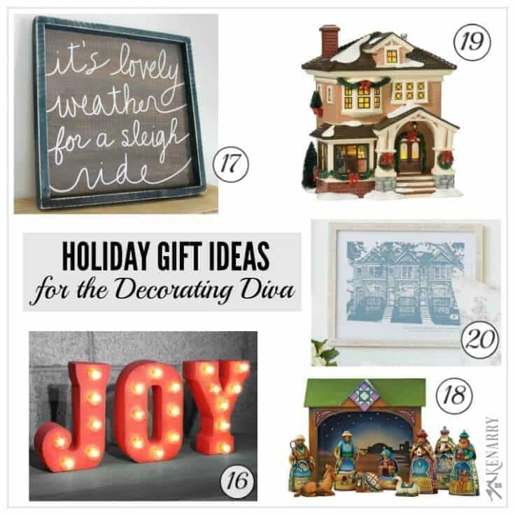 Tons of great holiday gift ideas for the women in your life including those who love to decorate and make their homes beautiful. You're sure to find the perfect Christmas present from this holiday gift guide.