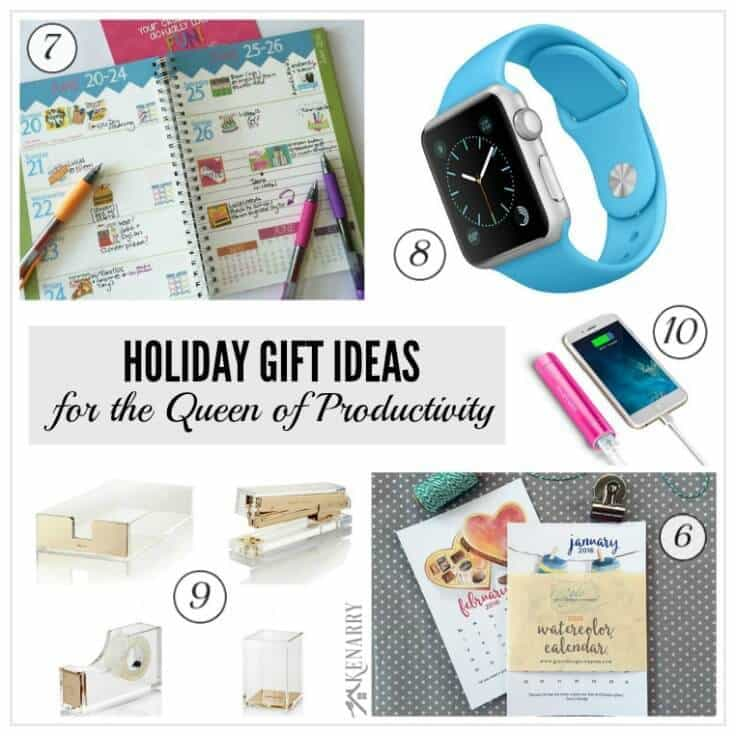 Tons of great holiday gift ideas for the women in your life including those who love home and office organization and productivity. You're sure to find the perfect Christmas present from this holiday gift guide.