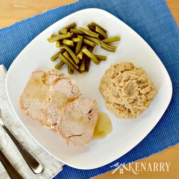 What an easy way to make turkey! This recipe for Slow Cooker Turkey includes Garlic Mashed Cauliflower right in the same crockpot for a simple and delicious dinner idea.