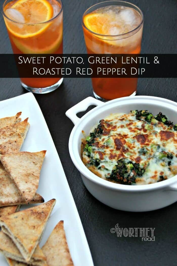 Sweet Potato, Green Lentil and Roasted Red Pepper Dip - A Worthey Read featured on Kenarry.com