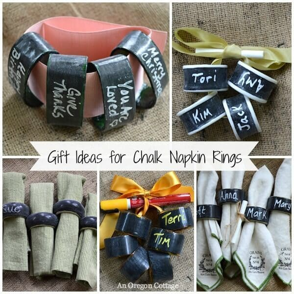 Thrifted Chalkboard Napkin Rings - An Oregon Cottage featured on Kenarry.com