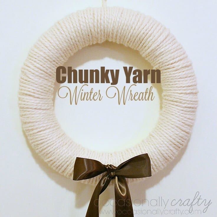 Chunky Yarn Winter Wreath 3