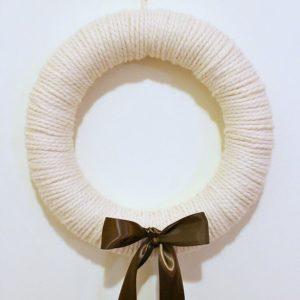 Chunky Yarn Winter Wreath