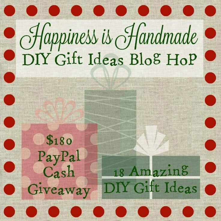 Happiness is Handmade DIY Gift Ideas Blog Home + $180 PayPal Cash Giveaway