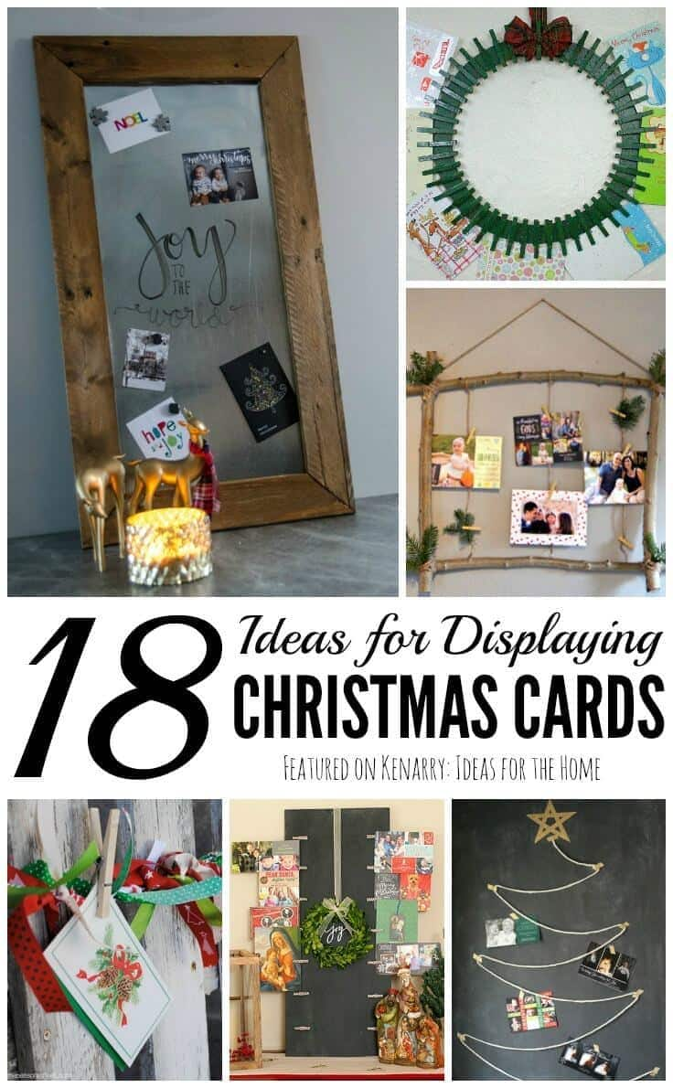 Displaying Christmas Cards: 18 Fun and Unique Ideas