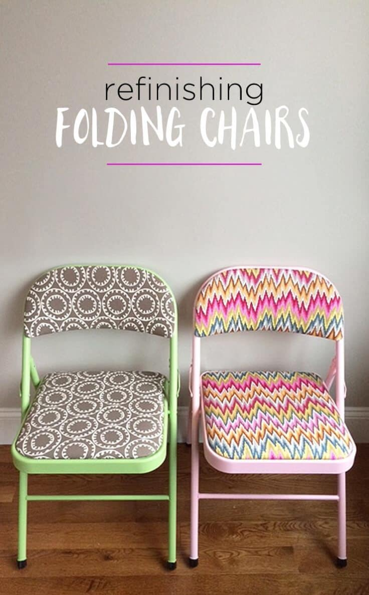How To Refinish Folding Chairs Decorate Them With Fabirc Paint