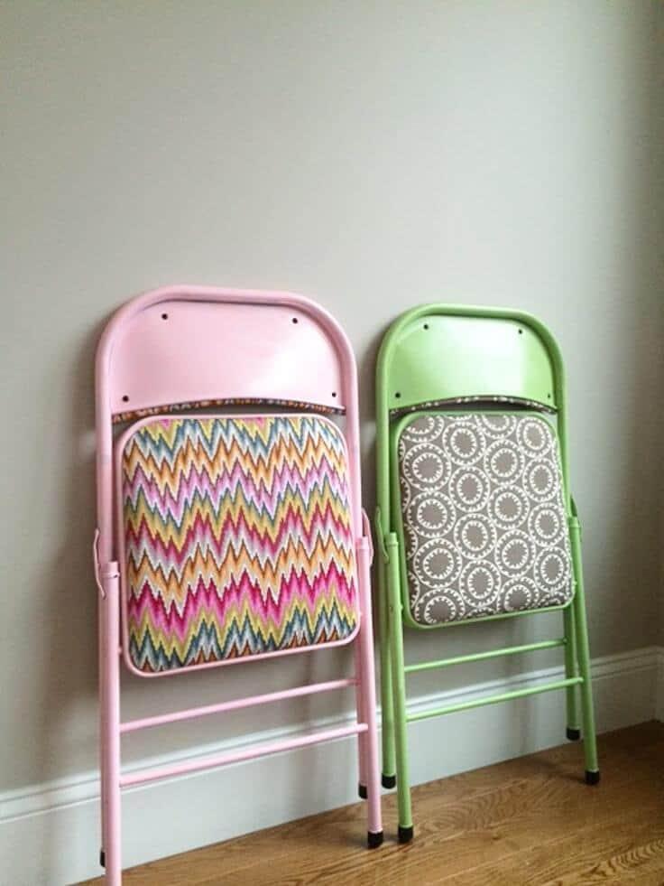 refinished folding chairs folded