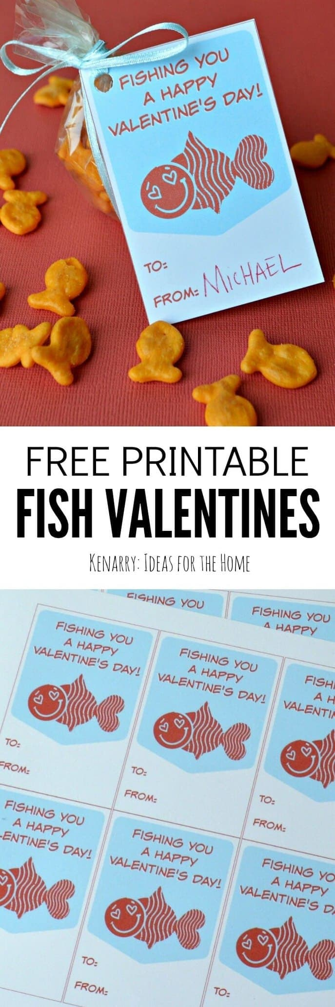image regarding Goldfish Valentine Printable identify Fish Valentines: Totally free Printable Playing cards for Young children