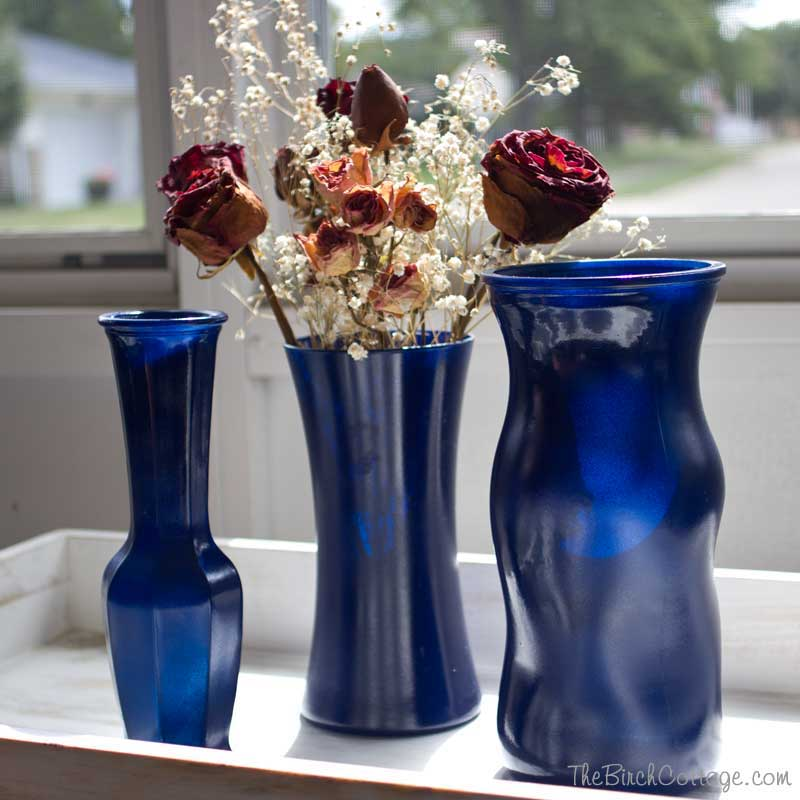 Diy Spray Painted Glass Vases Tutorial Kenarry