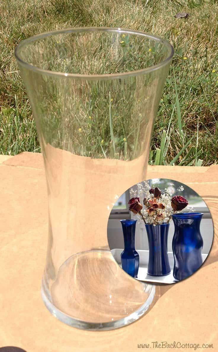 DIY Spray Painted Glass Vases by The Birch Cottage is a super easy way to add fabulous color to your home decor.