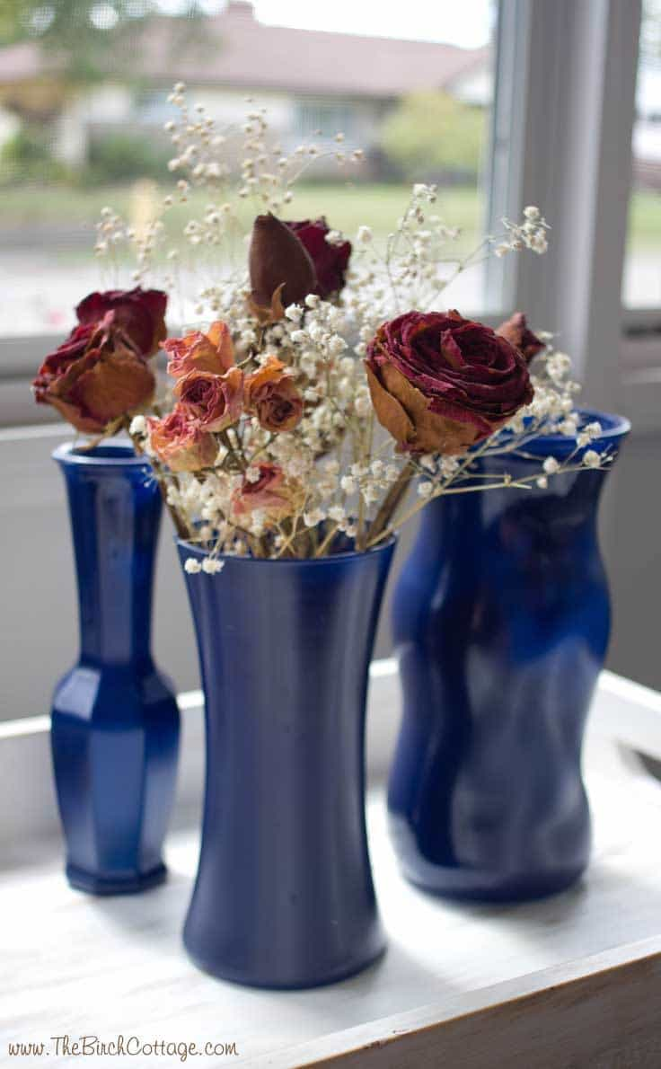 Diy spray painted glass vases tutorial kenarry a quick and easy diy project from the birch cottage diy spray painted glass vases reviewsmspy