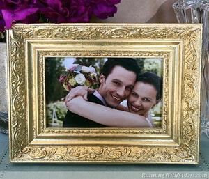 Upcycle a flea market frame with real gold leaf!