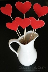 Heart Skewers Valentine's Day Decor