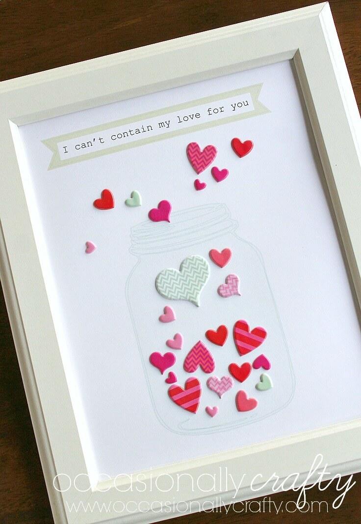 Mason jar valentine's day printable