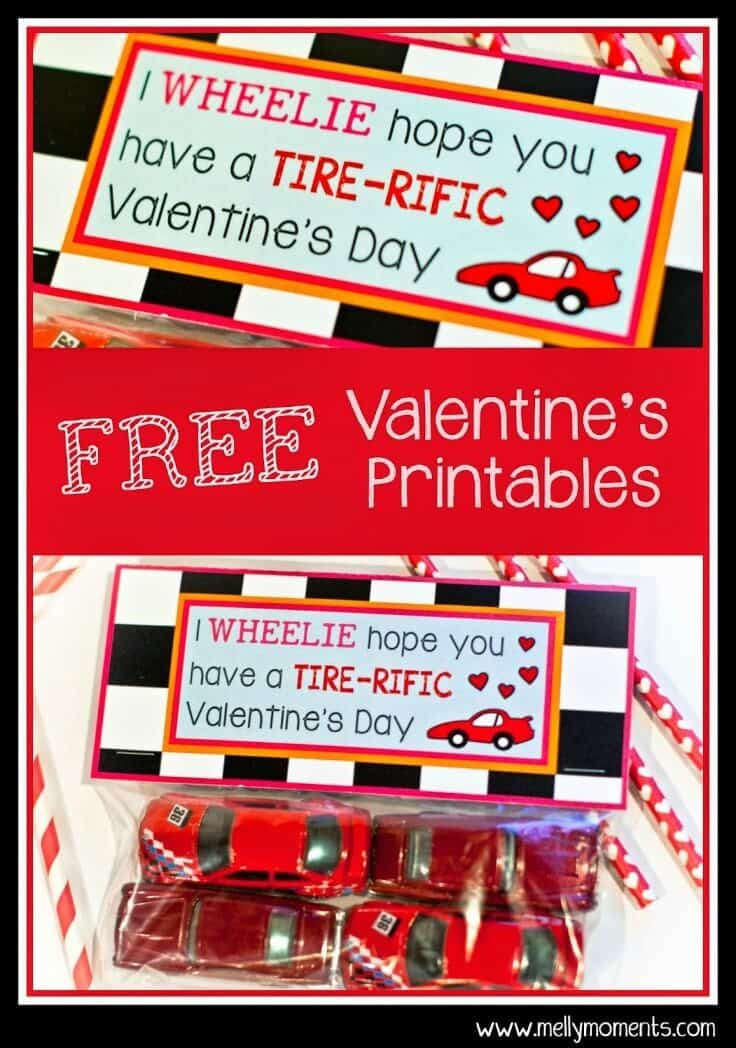 Wheel Design Valentine Cards - Melly Moments - Kids Valentine Cards featured on Kenarry.com