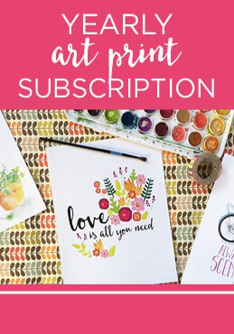 Yearly art subscription from greco design company