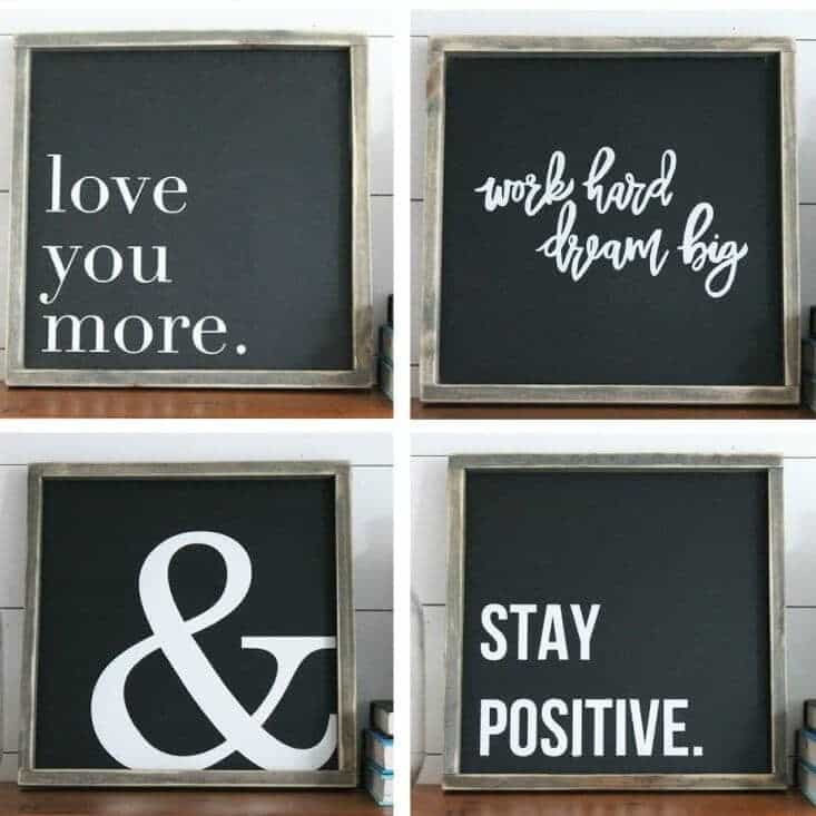 Rustic and Modern Home Decor Signs