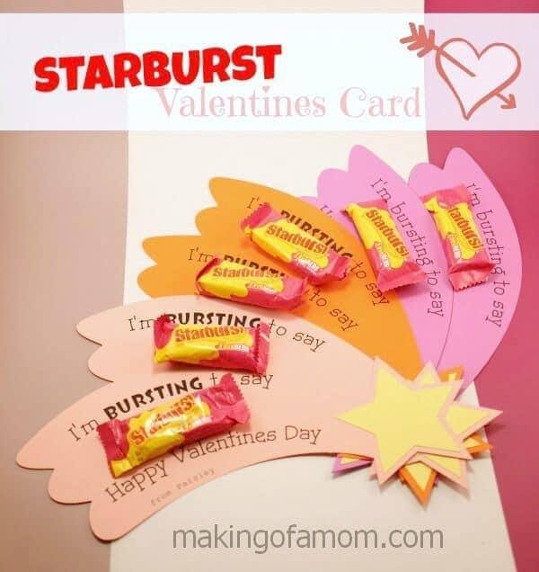 Valentine Cards for Kids 10 Candy and Treat Ideas – Candy Valentine Card