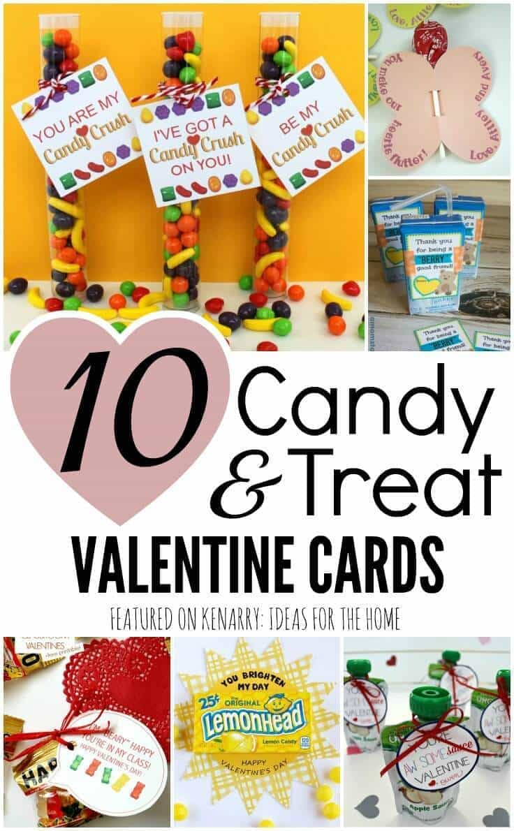 Valentine Cards For Kids 10 Candy And Treat Ideas