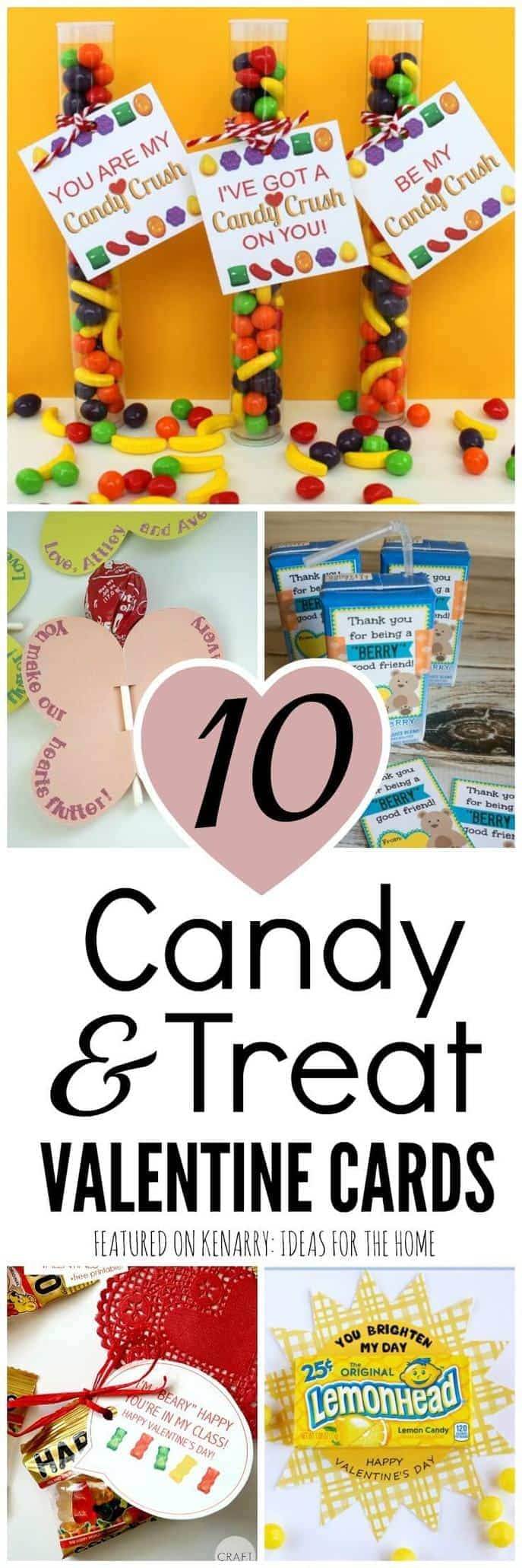 Such fun ideas! Make your own Valentine's Day cards for your child's classmates by attaching candy or treats to one of these 10 free printable Valentine cards for kids.