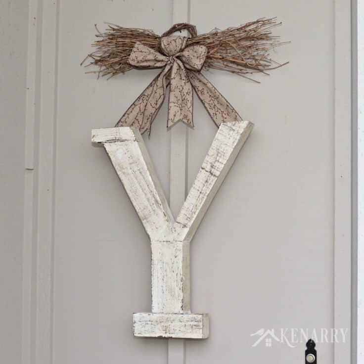 Winter Monogram Home Decor by Kenarry