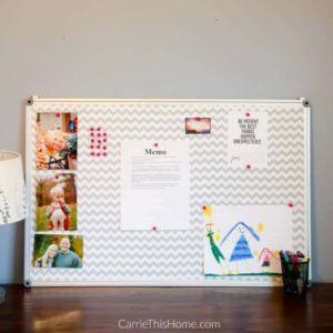 Easy DIY Fabric Covered Bulletin Board