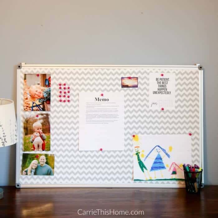 Easy DIY Fabric Covered Bulletin Board