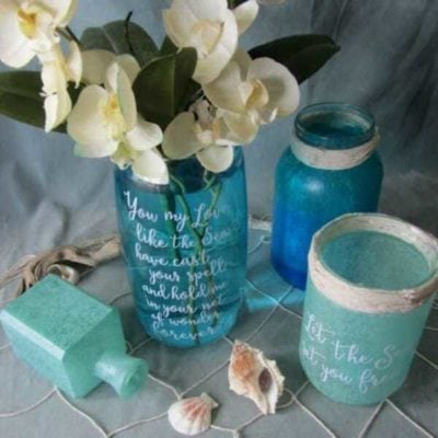 Faux Sea Glass and Ideas for Summer Centrepieces