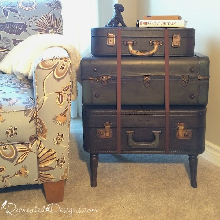 Making A Vintage Suitcase Side Table Part 79