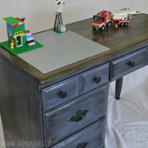 A Children's Distressed Lego Desk
