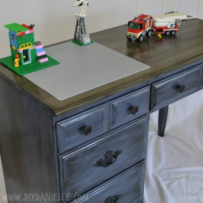 A Children's Distressed Lego Desk