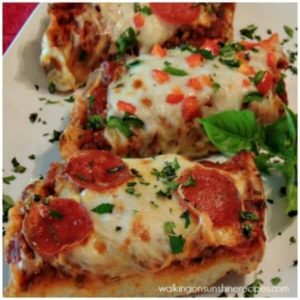 French Bread Pizza with Meat Sauce