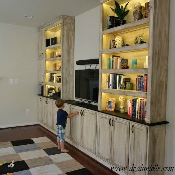 Building a Rustic Built-In Entertainment Center
