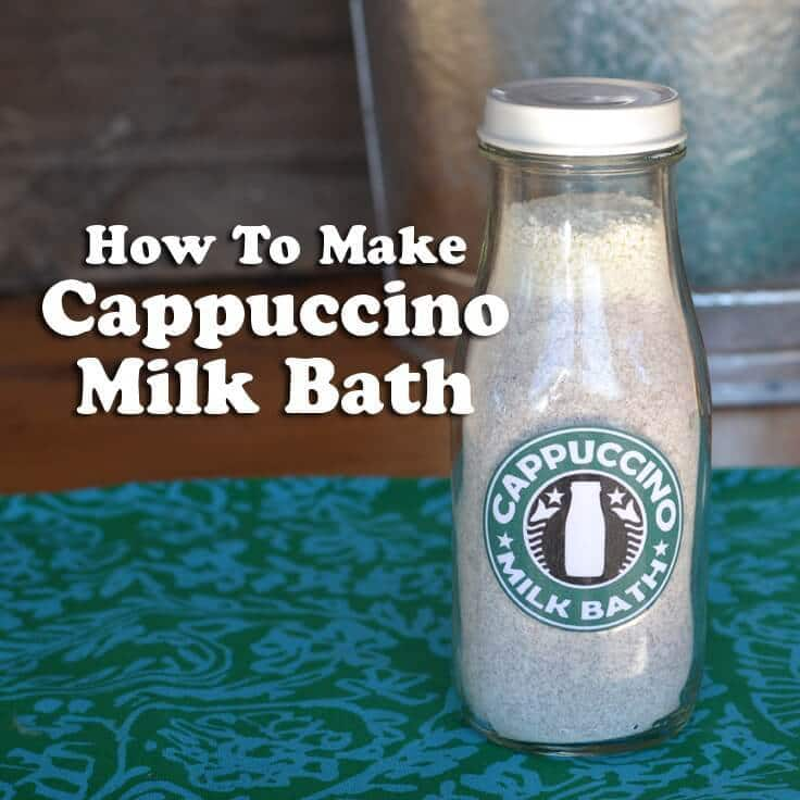 Cappuccino Milk Bath is easy to make and is a wonderful gift craft. We'll show you how and we even have a label for you to download!