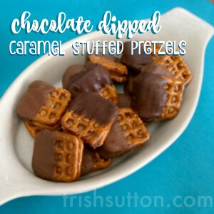 Similar to St. Patrick's Sweet & Salty Shamrocks made with Pretzels & Rolos