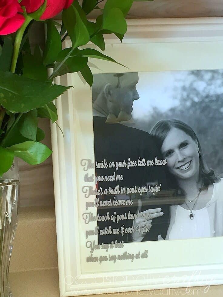 DIY Wedding Gift Idea using Song Lyrics