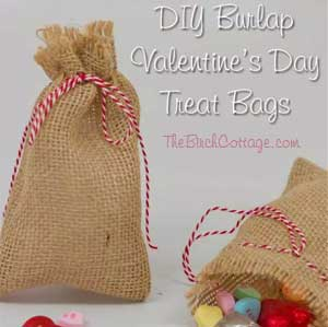 DIY Burlap Valentines Bag