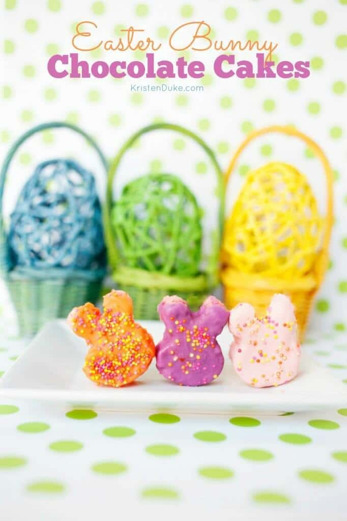 Easter Bunny Chocolate Cakes - Capturing Joy with Kristen Duke featured on Kenarry.com