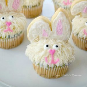 Easter Bunny Cupcakes - About a Mom featured on Kenarry.com