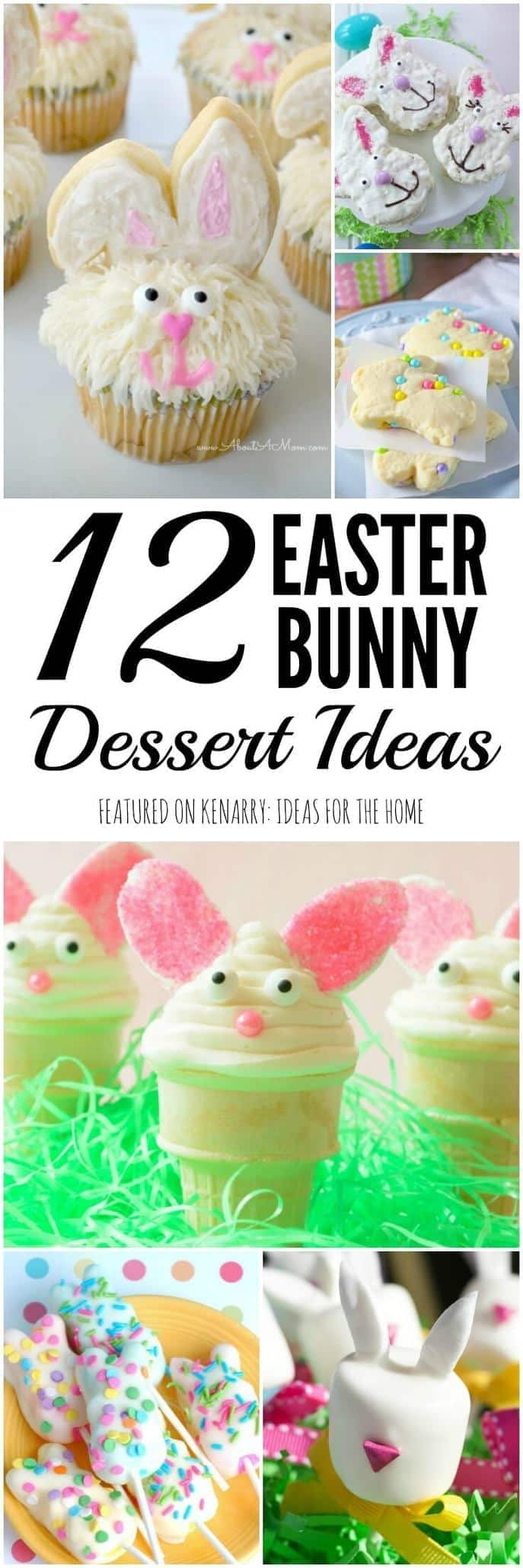 Kids will love these Easter Bunny Recipes! Any of these rabbit shaped treats would be a delicious idea to serve as a dessert at an Easter party.