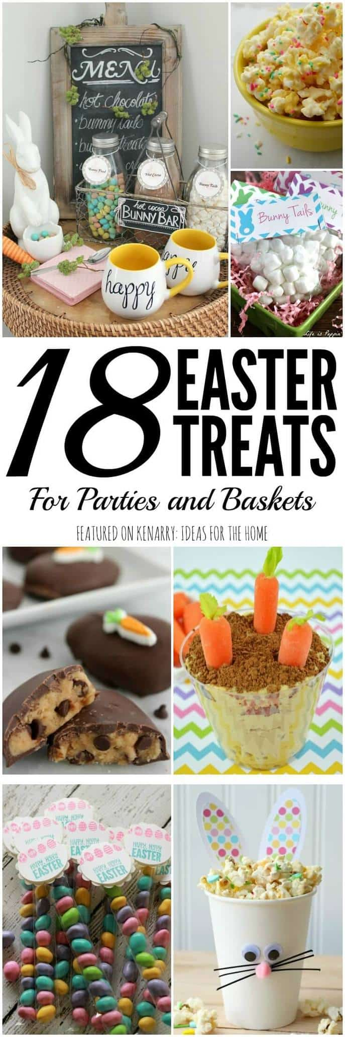 Get inspired for your upcoming Easter festivities! Check out these 18 fun ideas for Easter Treats that would be perfect for a party or kids' Easter baskets.