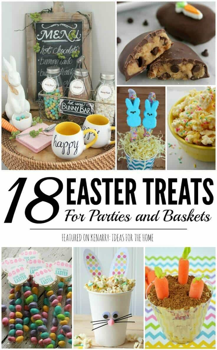 easter treats: 18 ideas for easter baskets and parties