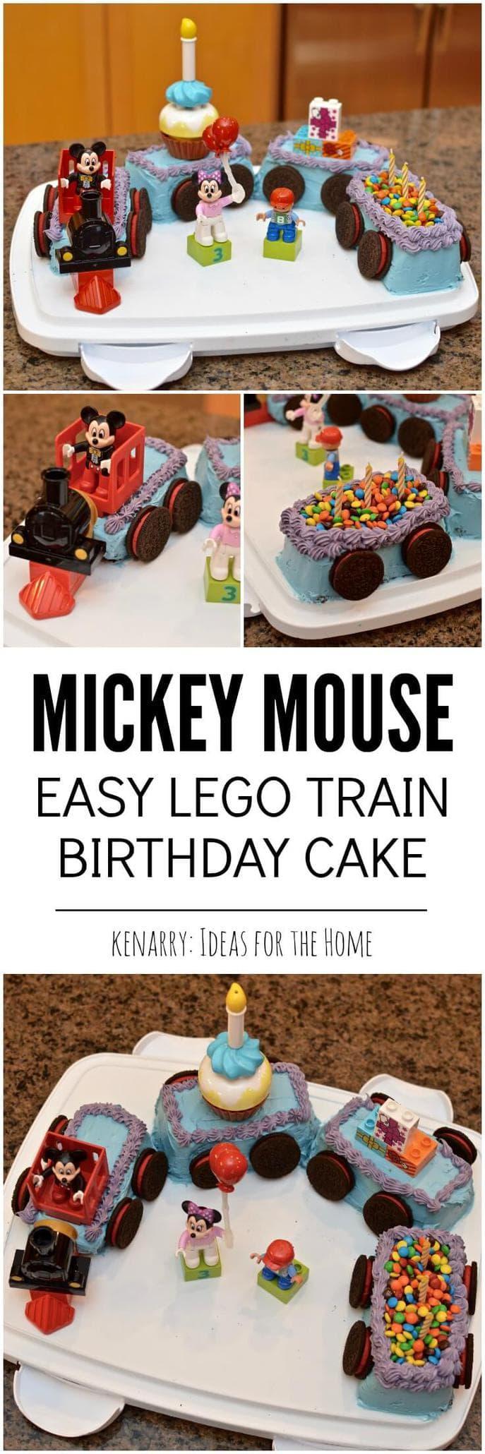 mickey mouse cake an easy birthday idea on chocolate train birthday cake recipe