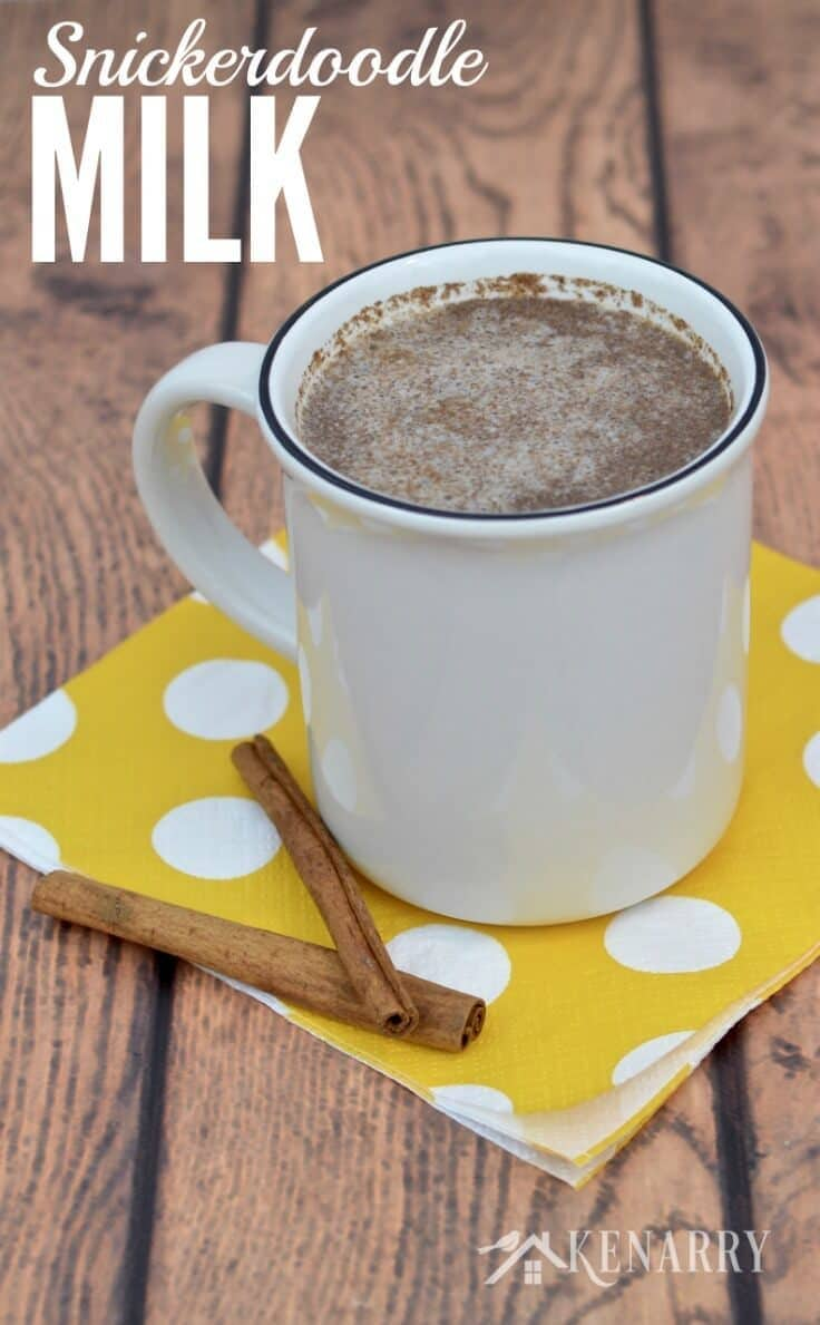 Warm Snickerdoodle Milk is an easy idea to make instead of hot cocoa to warm up on a cold winter or fall day. This sugar-free recipe uses cinnamon and vanilla to create a delicious drink the kids will love.