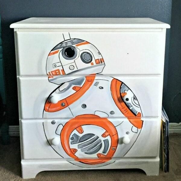 Star Wars BB8 Droid Hand Painted Dresser