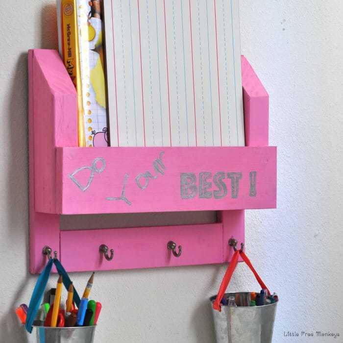 Kids (non) desk Organizer DIY