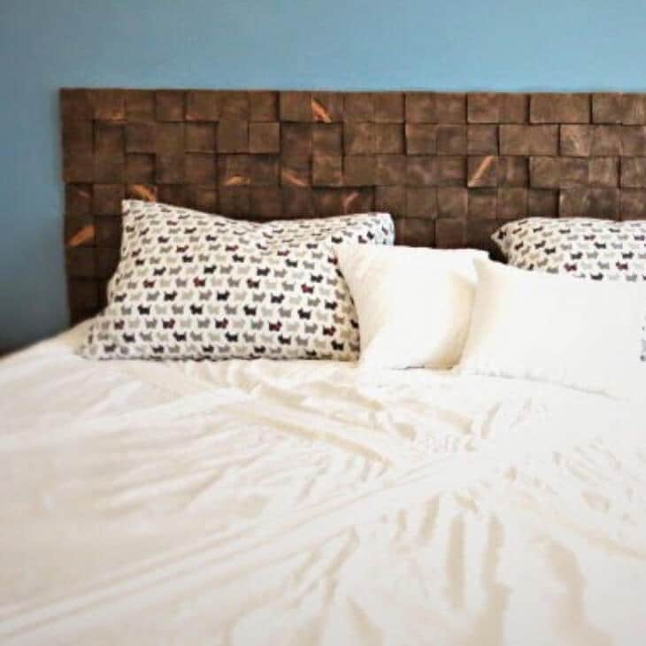 How To: Make a Wood Block Headboard for Under !