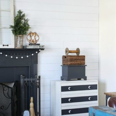Faux Shiplap On The Fireplace Wall