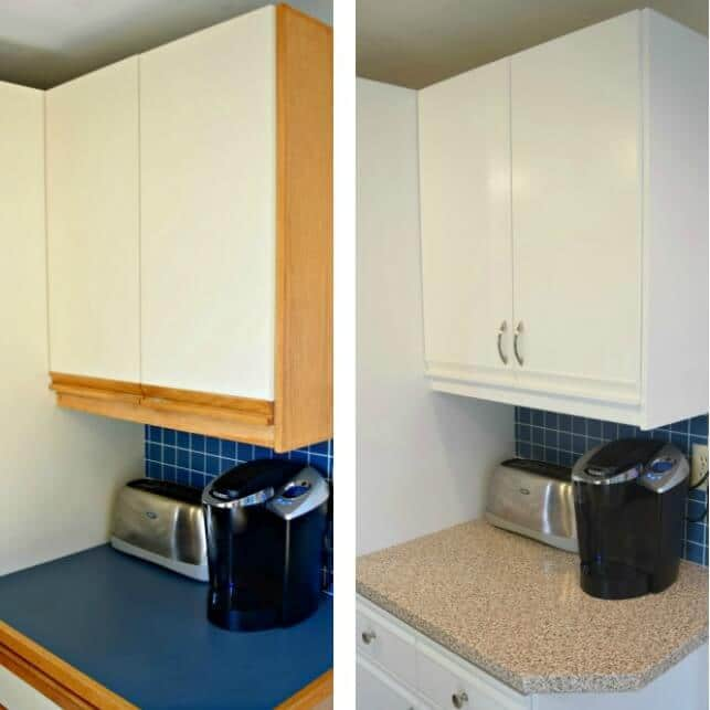 Before and after kitchen cabinets updates.