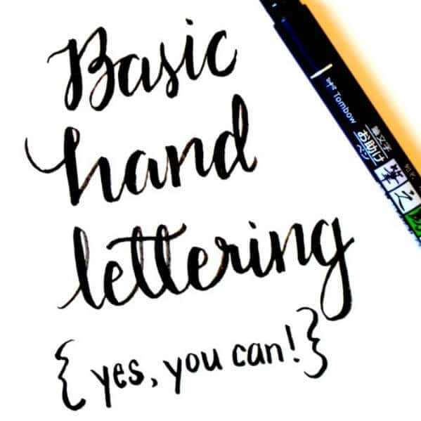 Basic Hand Lettering {Yes, you can!}